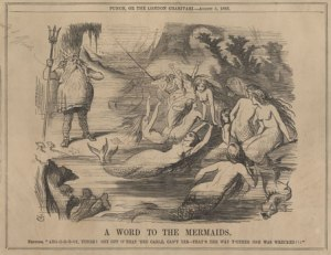 SC-MSS-254-Mermaid-Cartoon-from-Punch-August-5-1865