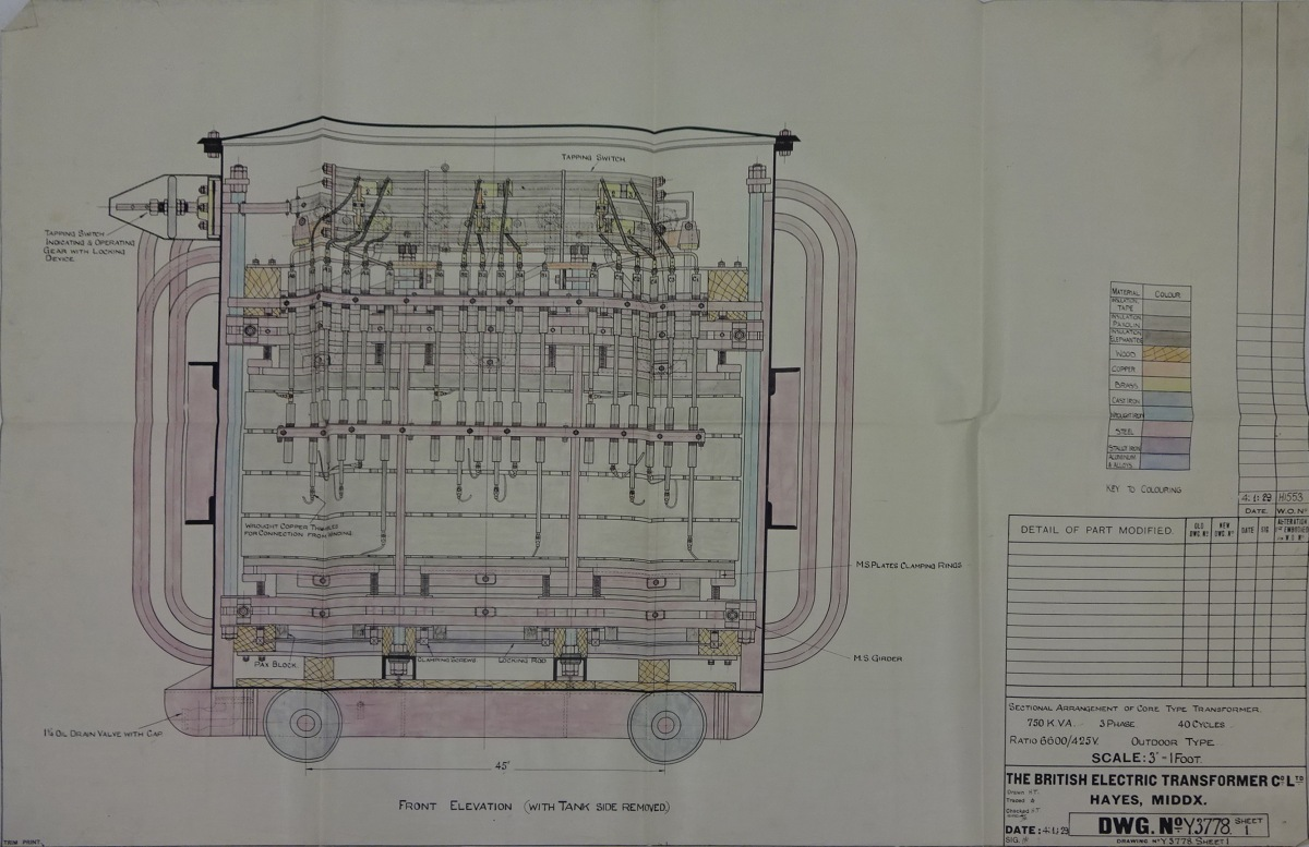 Early Ici Billingham Electrical Engineering Drawings  U2013 Iet