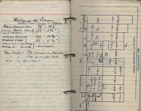 SC-MSS-277-Alf-Schaanning-notebook-Walthamstow-cranes-page