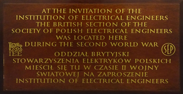 OPC-01-170-IEE-and-Society-of-Polish-Electrical-Engineers-WW2-Commemorative-Board