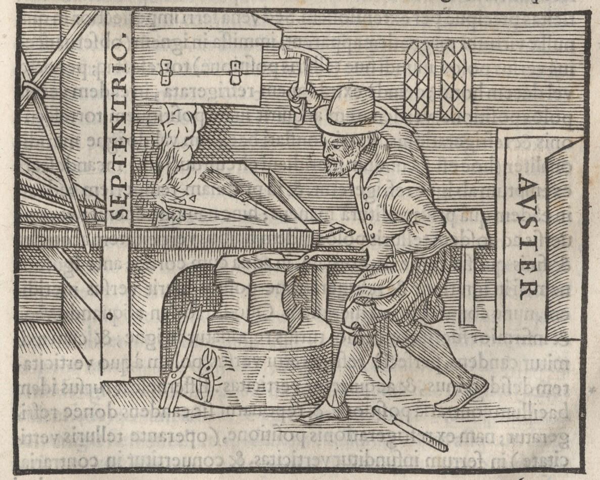 Illustration of a blacksmith